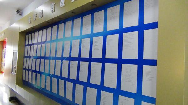 企业员工目标墙设计